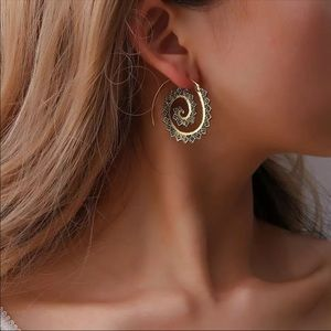Gold Spiral Earrings